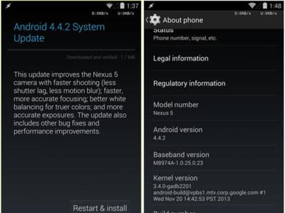 Android 4.4.2 disponible para los dispositivos de la familia Nexus