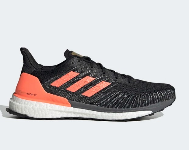 Zapatilla Solarboost ST 19 Core Black / Signal Coral / Gold Metallic