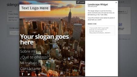 Sidengo: crea un minisitio con tu perfil y llévatelo donde quieras