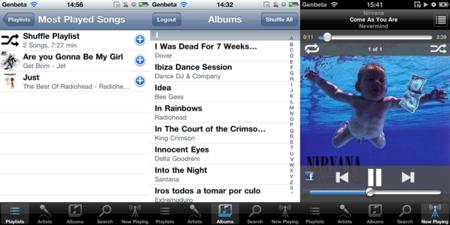La aplicación para iPhone de Audiogalaxy