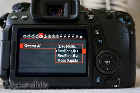 Canon EOS 70D pantalla AF