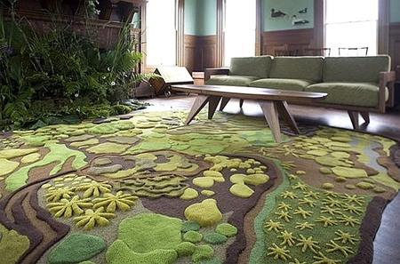 alfombra jardin salon