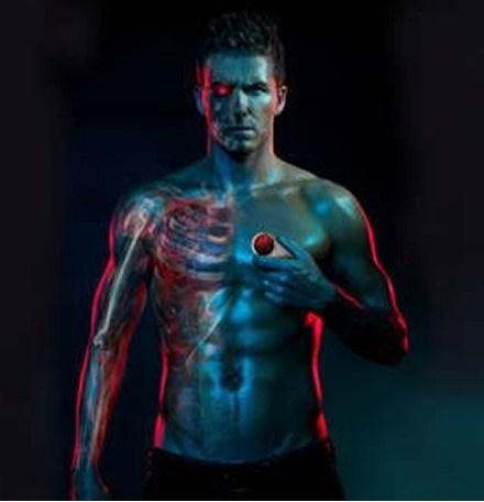 David Beckham, radiografiado para su nuevo anuncio