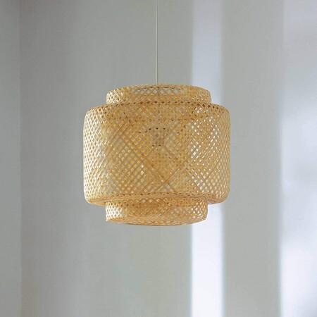 Lámpara de ratán