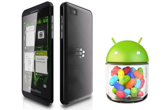 Android Jelly Bean en Blackberry 10