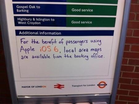 """Los """"no mapas"""" de iOS 6: imagen de la semana"""