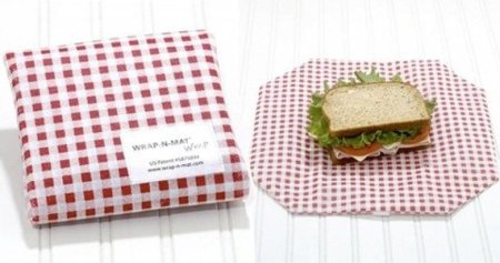 Wrap 'N' Mat, bolsa y mantel para tu sandwich