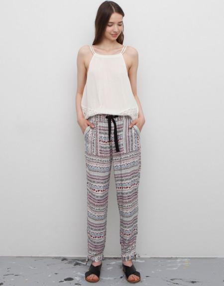 Pantalones Baggy Estampado Etnico