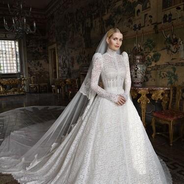 Así de impresionante ha sido el vestido de novia de Lady Kitti Spencer, la sobrina de Lady Di