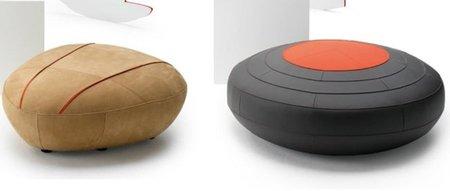 Piatra y Saturne, los nuevos escabeles de Leolux