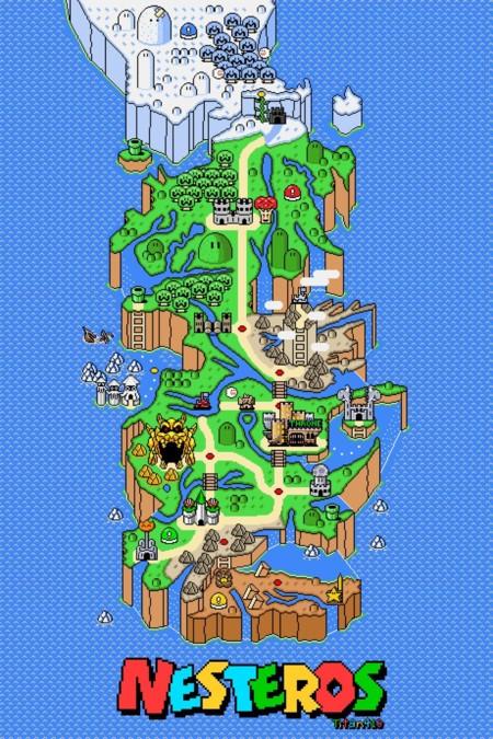 24 mapas que explican Juego de Tronos