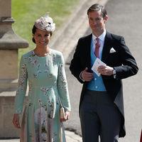 Boda del Príncipe Harry y Meghan Markle: Pippa Middleton apuesta por un romántico look en tonos pastel