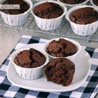 Muffins de chocolate, whisky y café. Receta