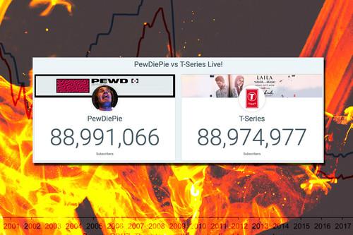 """Elecciones para """"gobernar"""" YouTube: PewDiePie y la campaña continua para que no le supere T-Series"""