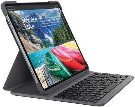 Logitech Slim Folio Pro Funda para iPad con Teclado Inalámbrico Bluetooth, iPad Pro 12,9 Pulgadas 3.ª Gen Modelos: A1876, A1895, A1983, A2014, Teclas Retroiluminadas, Disposición QWERTY Italiano,Negro
