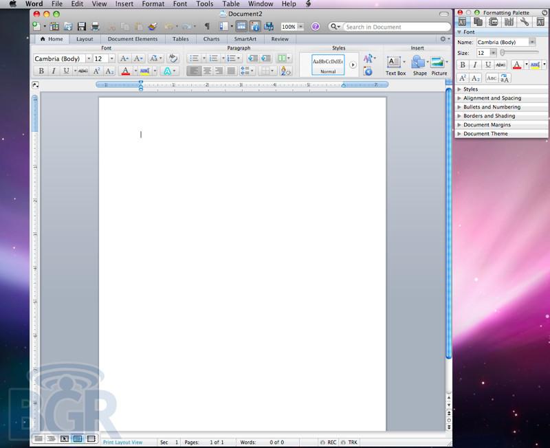 Primeras imágenes Office 2011 para Mac