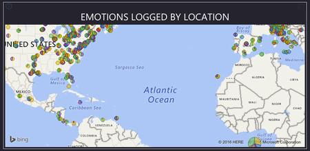 Emociones por localización