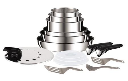 Renueva tu cocina con el set de 6 piezas de aluminio Tefal Ingenio y accesorios por 140,49 euros en Amazon