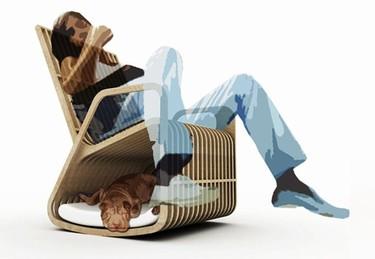 Mecedora y caseta de mascotas de Paul Kweton