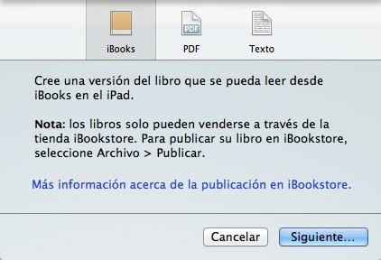 iBooks Author advertencia