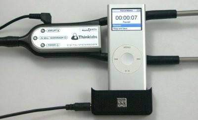Accesorio para el iPod que permite grabar el sonido del corazón