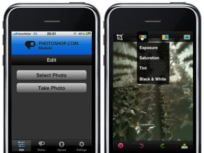Disponible la aplicación de Photoshop para el iPhone e iPod touch