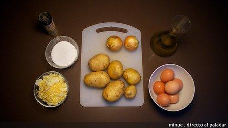 Tortilla de patatas con queso - ingredientes