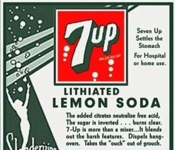 ¿El 7-Up llevaba litio?