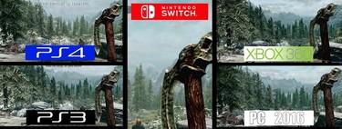 Así luce Skyrim en Nintendo Switch frente al resto de ediciones para consolas y PC