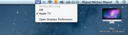 Mountain Lion Apple TV AirPlay