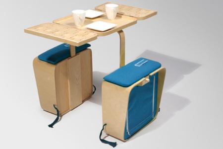 cesta de picnic para bici by Bloon Design abierta