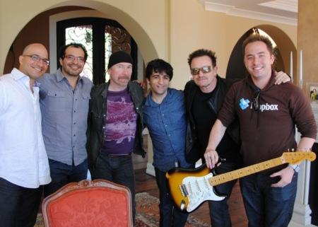 Dropbox anuncia inversiones de Bono y The Edge, componentes de U2
