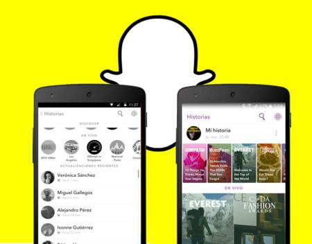 Snapchat viste de revista a la sección Discover y añade accesos rápidos