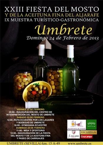 Aceitunas y mosto, gratis este domingo en Umbrete