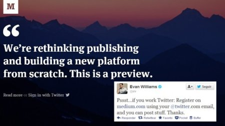 Medium abre sus puertas un poquito: sólo para los que trabajan en Twitter