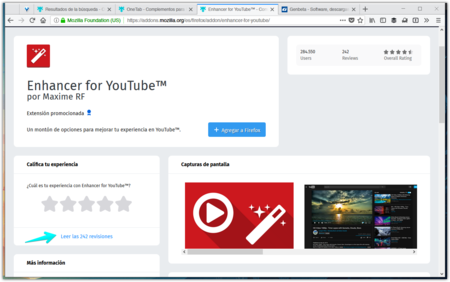 Enhancer For Youtube Tm Complementos Para Firefox Mozilla Firefox 2017 11 03 15 12 48