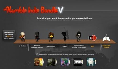 Nuevo Humble Bundle V, cinco juegos al precio que tú quieras