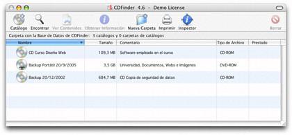 CDFinder: Catalogador de unidades y discos