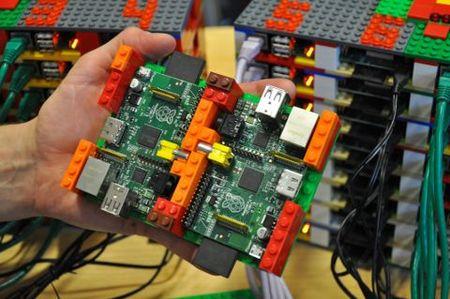 Estructura del nodo de la supercomputadora con dos Raspberry Pi