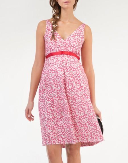 Vestido Encaje Premama Rosa