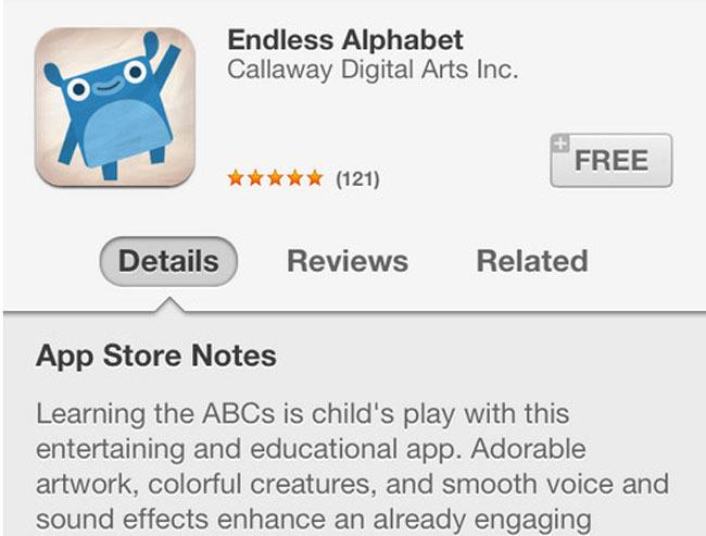 App Store notes, pantallazo de la App Store