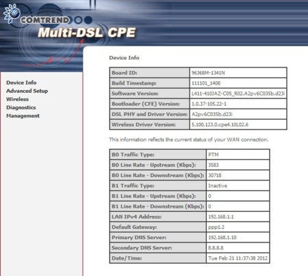 Interfaz web