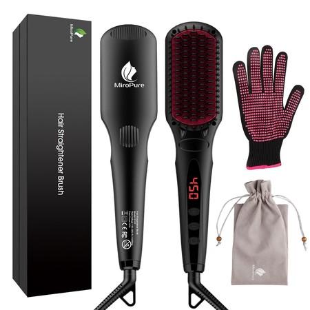 Cepillo alisador 2 en 1 con guante resistente al calor por sólo 26,34 euros en Amazon