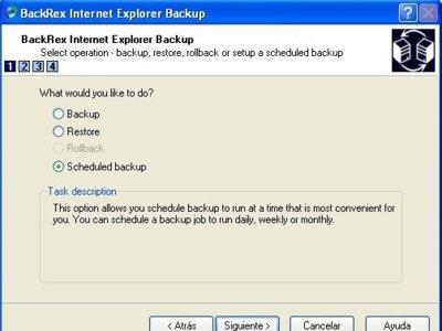 Haz copia de seguridad de todo Internet Explorer con BackRex