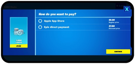 Fortnite Direct Payment Ios