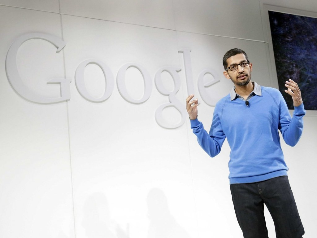 Sundar Pichai is the new CEO of Alphabet, and Google, Sergei Brin and Larry Page give a step to the side