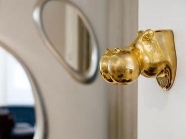 Jojo, un divertido hipopótamo para colgar en las paredes de tu casa