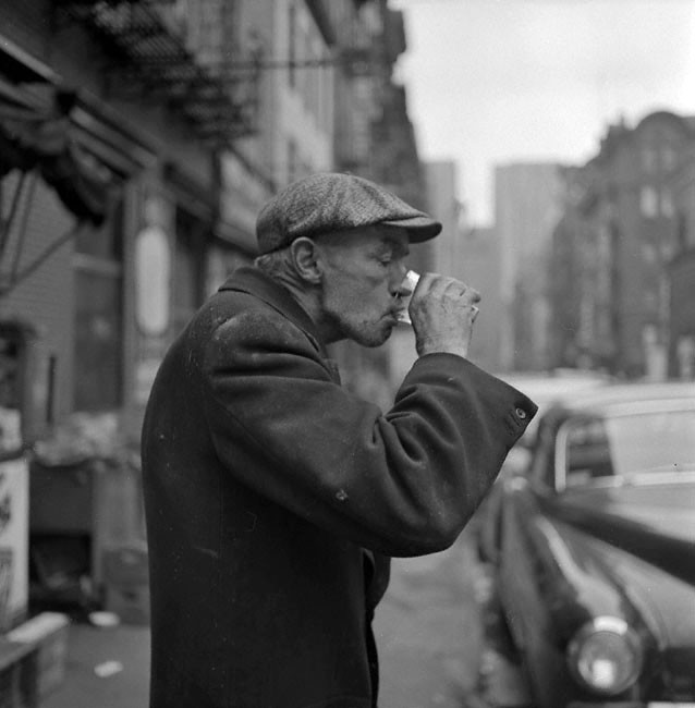 Man Drinking The Bowery 1953