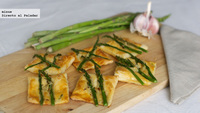 Receta de tartaletas picantes con espárragos verdes