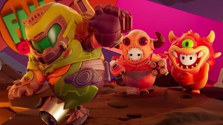 Los personajes de Fall Guys se vestirán del protagonista y los demonios de DOOM con sus nuevas skins